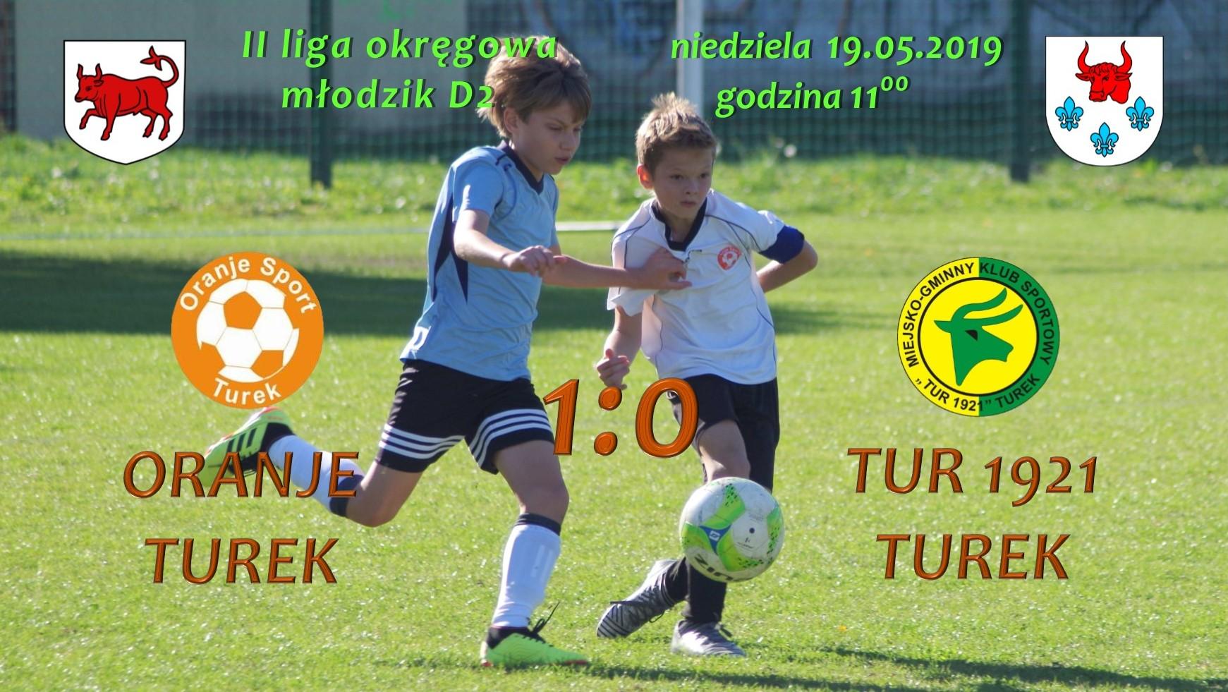 Oranje Turek- Tur 1921 Turek 1:0, młodzik D2