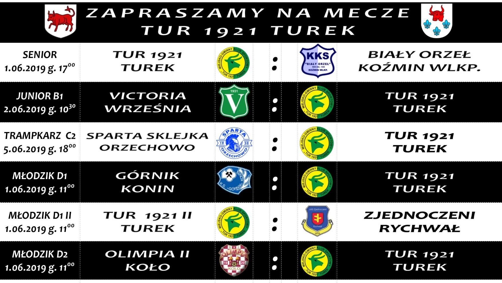 Zaproszenie na mecze Tur 1921 Turek