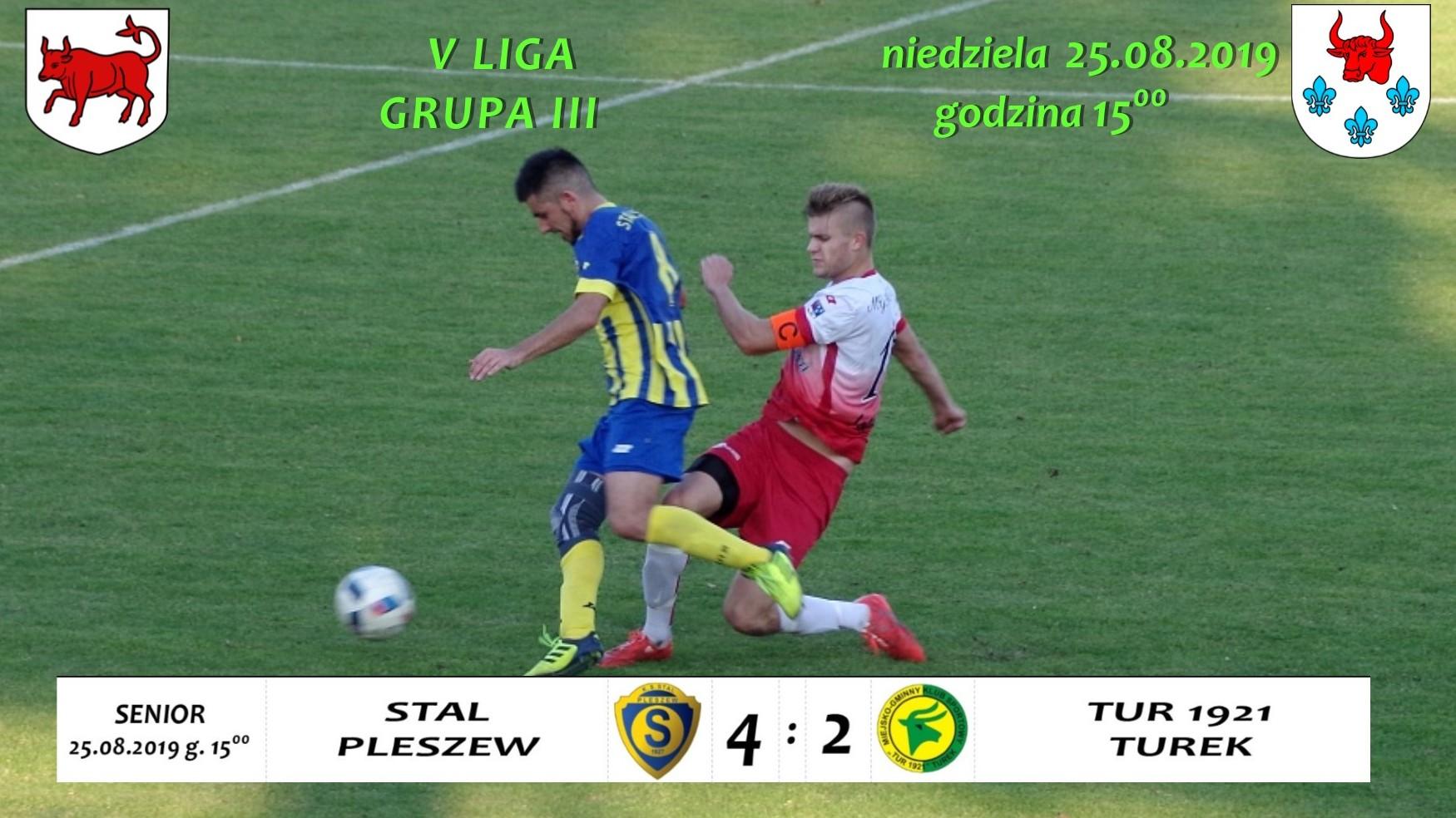 Stal Pleszew- Tur 1921 Turek 4:2, V liga