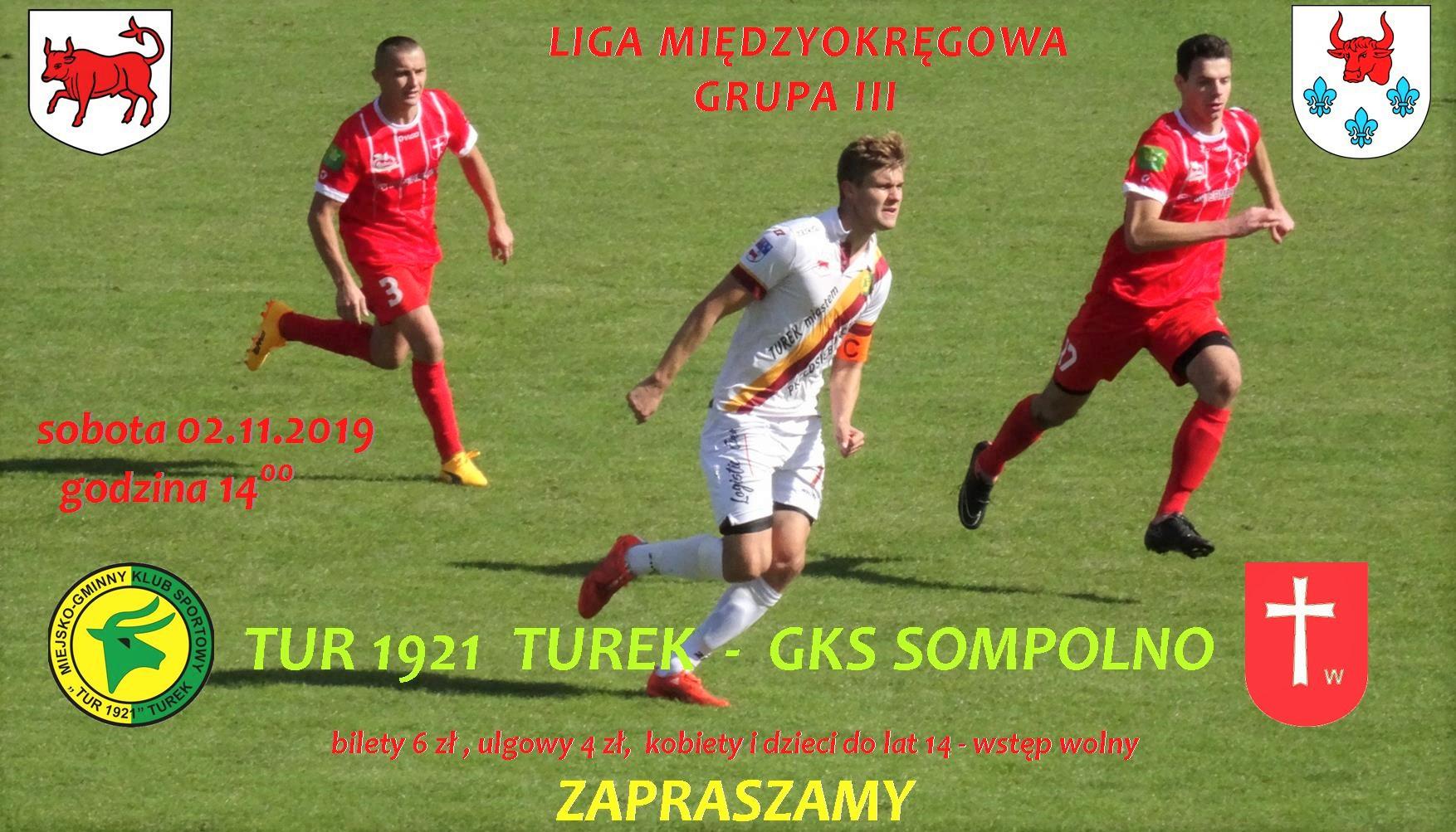 Tur 1921 Turek- GKS Sompolno 0:3