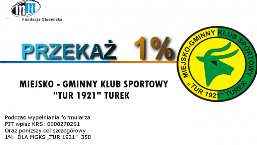 Wsparcie dla MGKS Tur 1921 Turek.