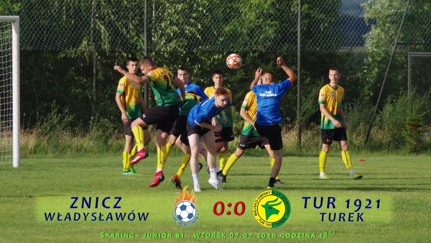 Znicz Władysławów- Tur 1921 Turek 0:0, sparing B1